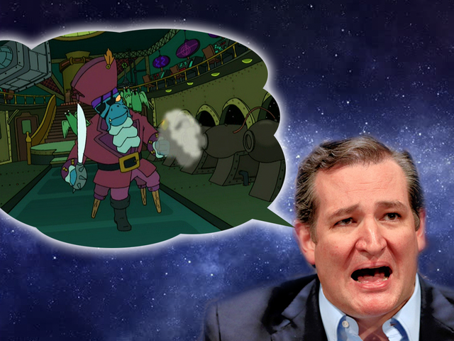 Space Genius Ted Cruz Is Super Worried About Space Pirates Stealing our Space Booty