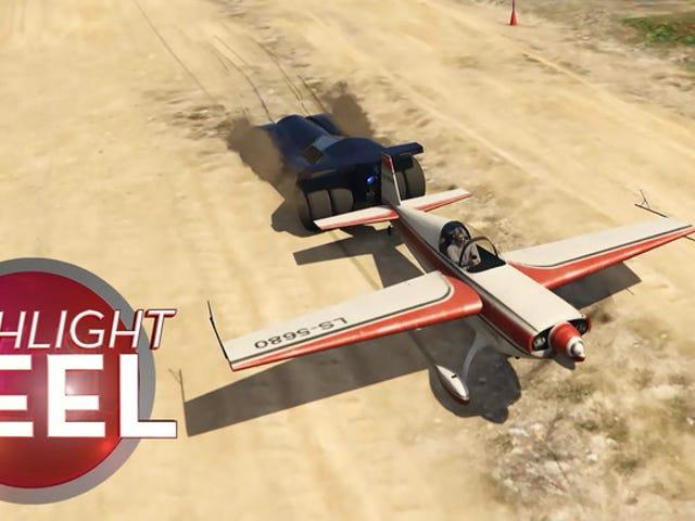 GTA車は航空機のカタパルトに変わります