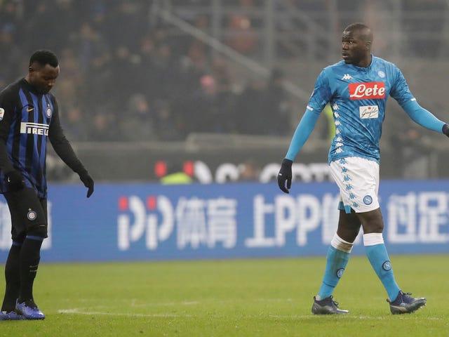 L'Inter costringe a giocare due partite nello stadio chiuso per avere i fan razzisti di Shithead