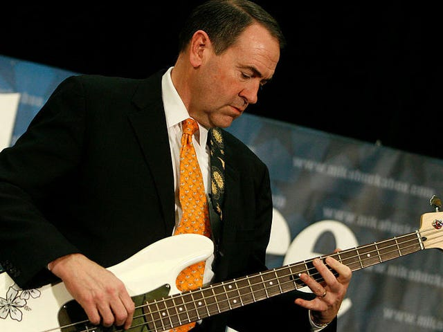 So, here's Mike Huckabee playing bass with a member of Korn