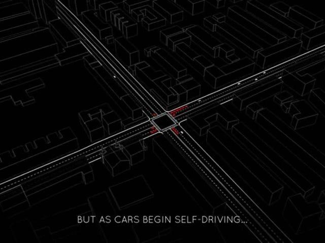 Når autonome kjøretøyer streier over veiene, trenger vi ikke å stoppe lysene