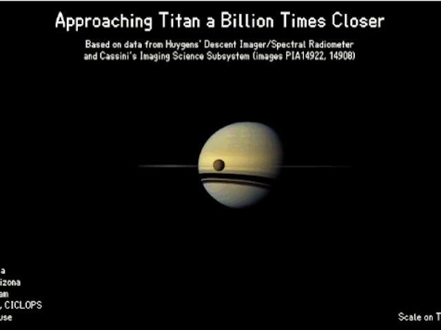Her er det som ser ut til å falle til Titan From Space