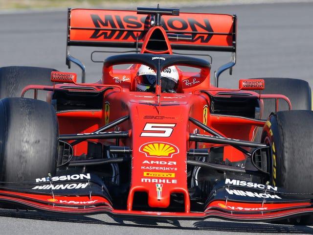 O trabalho de pintura de Vaping de Ferrari imediatamente retrocedeu
