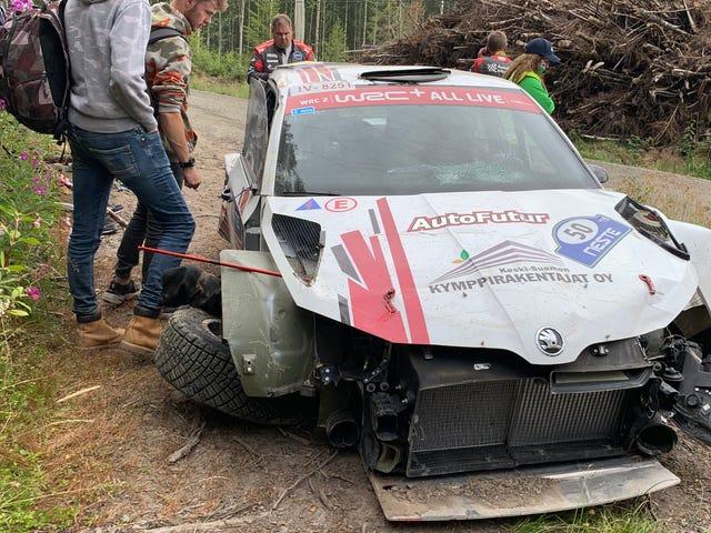 """Metsästys onnettomuuksista Rally Finlandin """"ammattilaispelaajien"""" kanssa"""