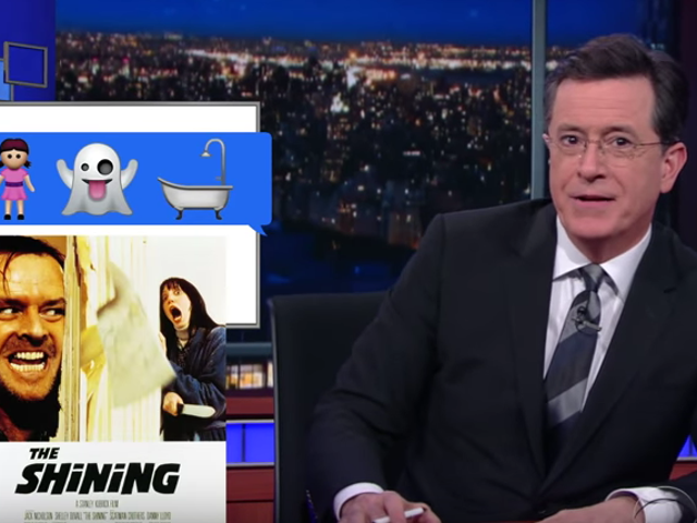 Stephen Colbert Imagines How We Could Remake Movies With Emoji