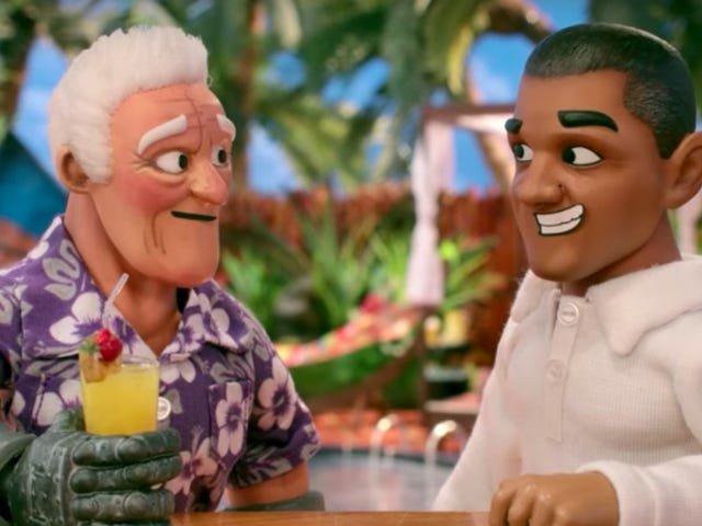 SuperMansion is also nostalgic for former president Barack Obama in this exclusive clip