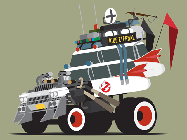Pop Culture's Greatest Vehicles Get Ready for a Mad Max-Style Dystopia