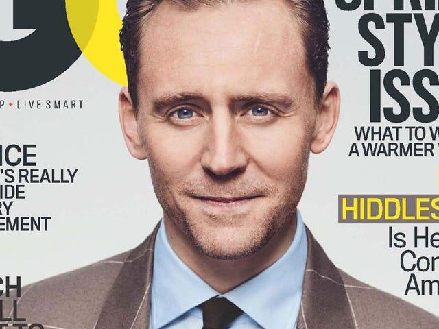 """<em></em>  Tom Hiddleston na koniec wyjaśnił, że koszulka """"I ♥ TS"""" i będziesz musiał usiąść na tę jedną"""