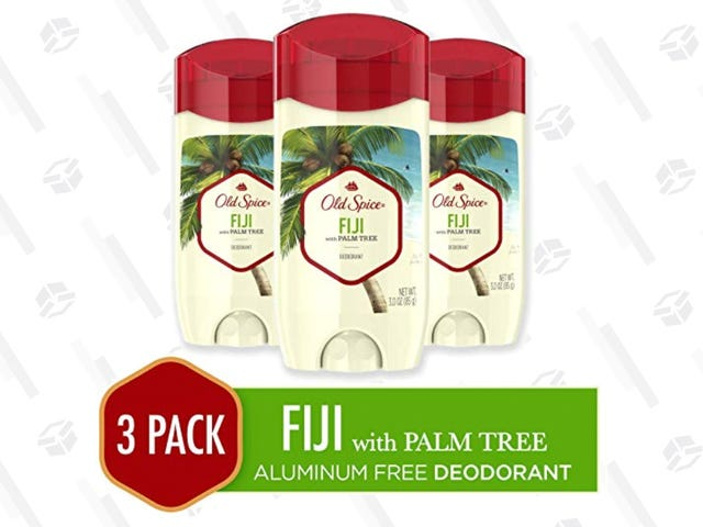 Don't Stink, Get a 3-Pack of Old Spice Aluminum-Free Deodorant For $10