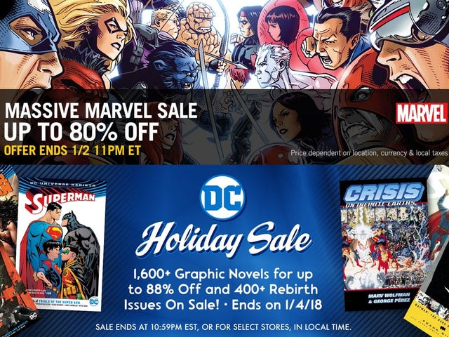Save Big On Thousands Of Digital Comics From Comixology's Holiday Sales