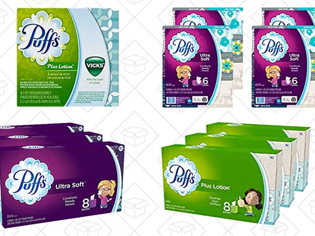 Save $2 On These Bulk Packages of Puffs Tissues