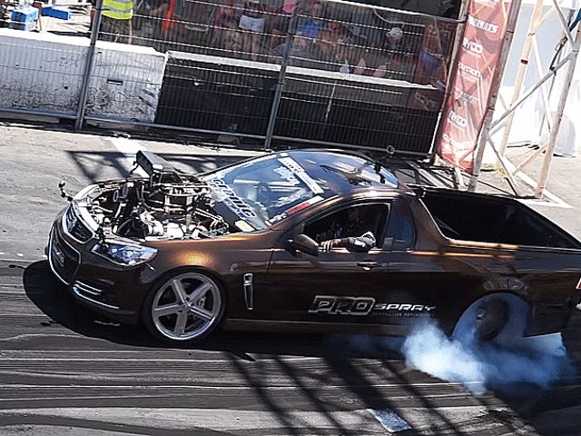 This Burnout Champion Brown Holden Ute Is Australia's New King Of The Hoons