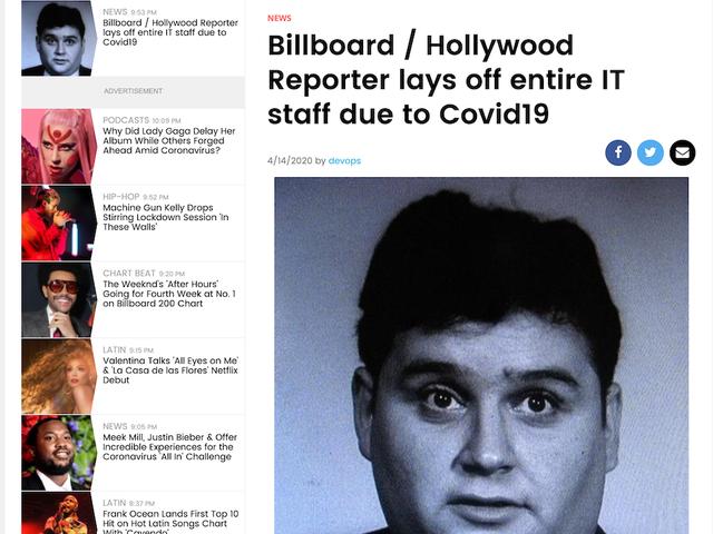 हॉलीवुड रिपोर्टर और बिलबोर्ड में काम करने वाले लोग लैड ऑफ होने के बाद वेबसाइट पर वैंडलाइज़ करते हैं