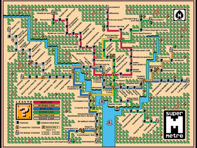 Get Around Cities in Style with These Super Mario-Themed Subway Maps
