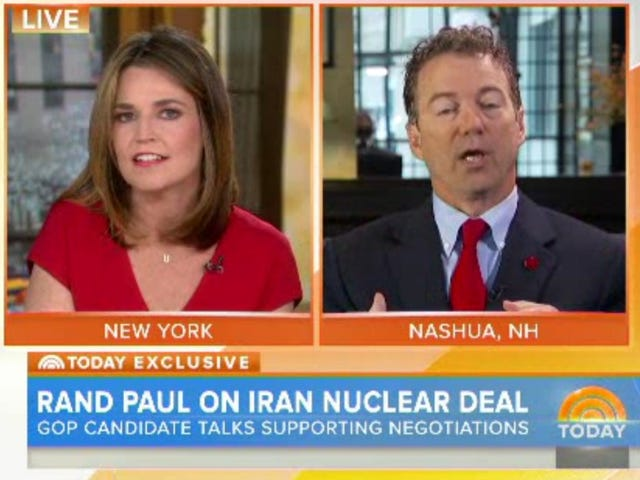 Watch Rand Paul Explain Interviews to Savannah Guthrie, Mid-Interview