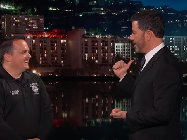 Jimmy Kimmel returns, hires employees of a government that still has not