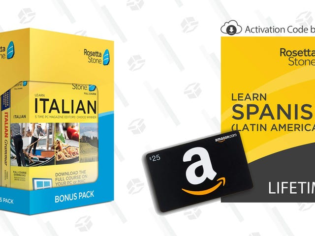 Say Hola, Bonjour, Guten Tag, Bongiorno, Hello to New Language Skills With This Rosetta Stone Gold Box