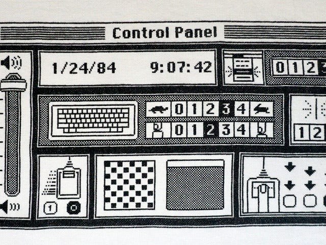 Hand Stitching Every Pixel in the Original Mac OS Control Panel Took This Master Crafter Six Months