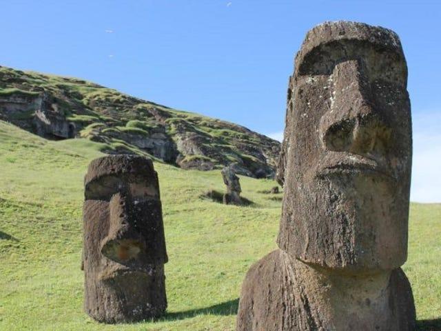 Nuevo pruebas contradicen de la Côte de la Côte de la Isla de Pascua colapsó