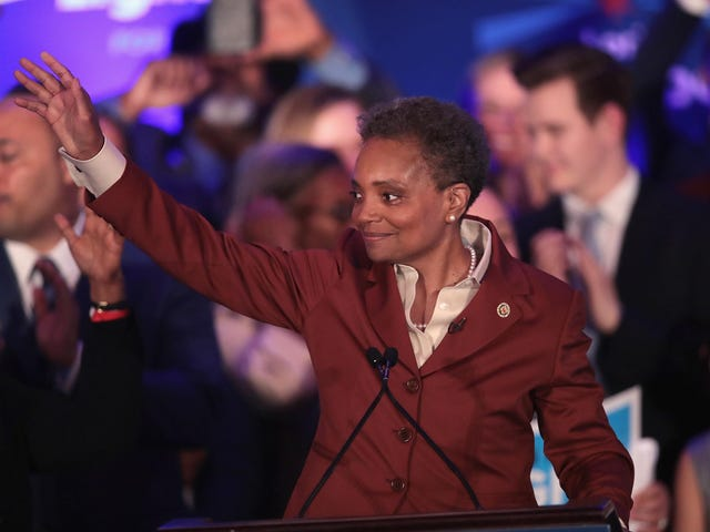 Chicago Win: Lori Lightfoot to be Sworn in as Mayor; Rahm Emanuel Jumps in Cop's Pocket and Disappears