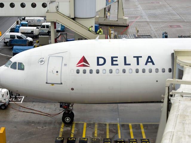 델타 항공이 금지 한 비디오에 트럼프 난간을 휘두른 항공사 승객