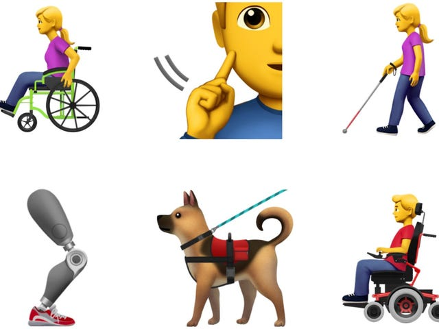 Apple Proposes First Accessibility Emoji, Including Guide Dogs and Prosthetics