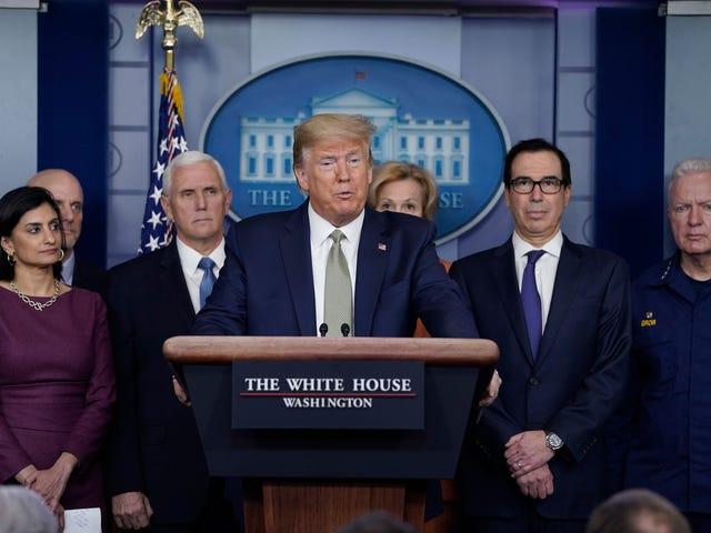 """Koronaviruksen torjumiseksi Trumpin hallinto ehdottaa hätästimustarkistusta jokaiselle aikuiselle amerikkalaiselle: """"Meidän on tehtävä tämä nyt"""""""