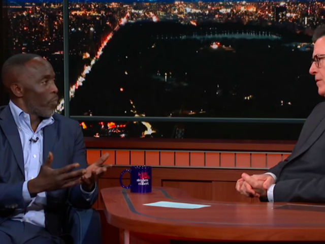 Michael K. Williams shares his Anthony Bourdain story and his Omar psych-up music on The Late Show