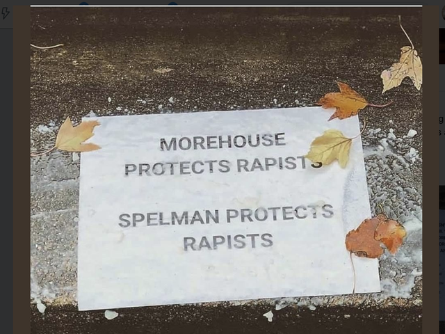 #WeKnowWhatYouDid: Signs Naming Accused Rapists Papered All Over Morehouse and Spelman Campuses<em></em>