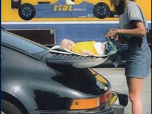 that's one way to use a Porsche