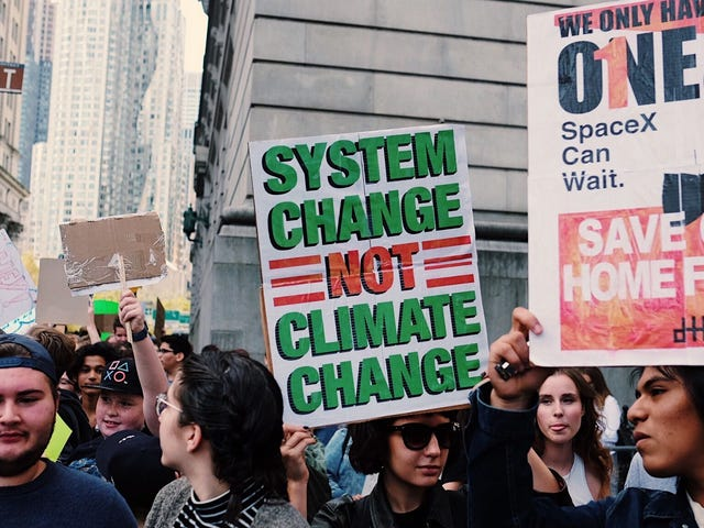 We're at the New York Climate Strike