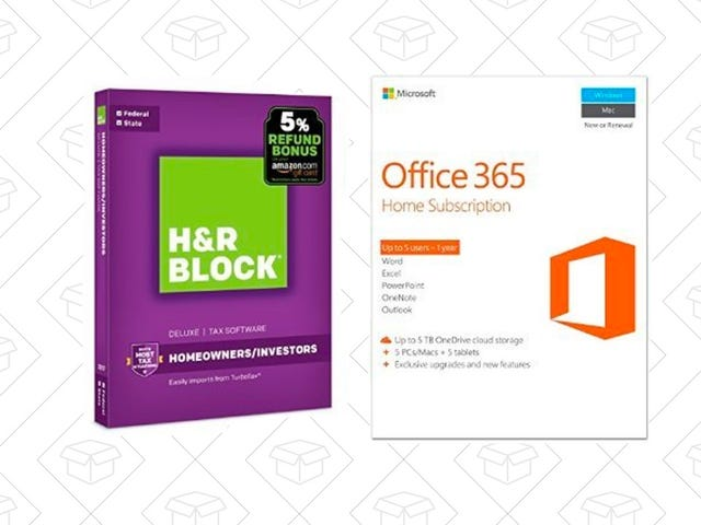 Install Both H&R Block Tax Software and Microsoft Office 365 For Just $90