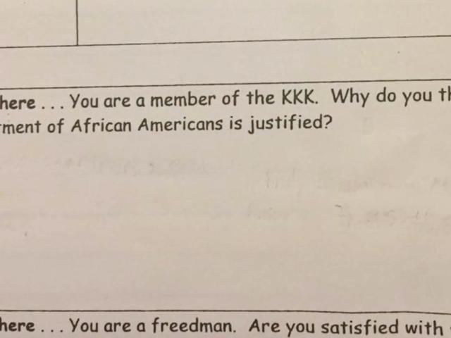«Γιατί νομίζετε ότι η θεραπεία σας για τους Αφρικανούς Αμερικανούς είναι δικαιολογημένη»: Η SC Elementary Teacher θέτει ερωτήσεις σε μαθητές από το KKK ...