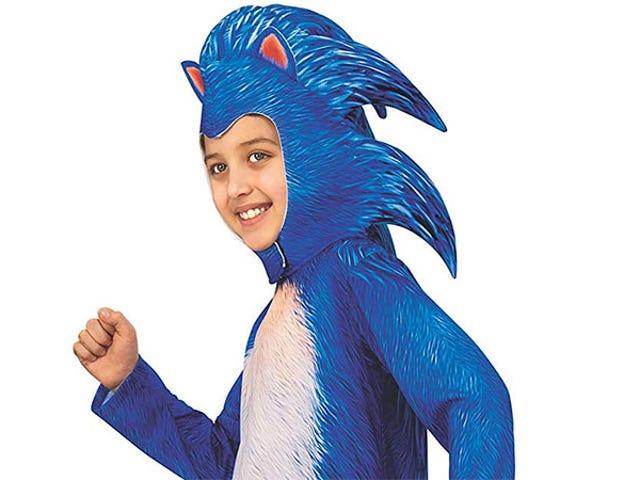 <i>Sonic</i> Кино Костюм Позволяет Лицу Вашего Ребенка Быть Редизайном