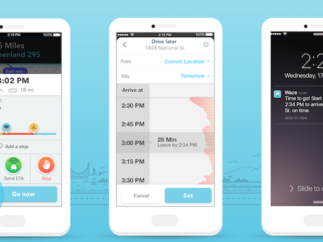Waze Adds Planned Drives to Estimate Drive Times and Help You Figure Out the Best Time to Leave