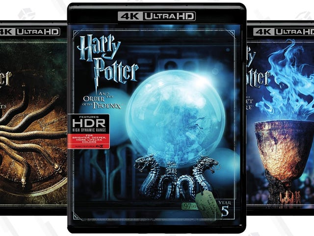 Save $5 OnHarry Potter 4K HDR Blu-rays, Complete with Digital Copies
