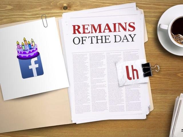 Остатки дня: Facebook хочет, чтобы вы записали видео дня рождения