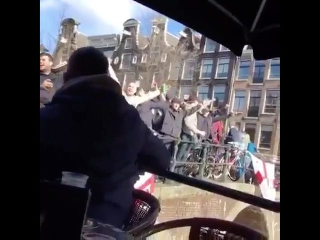 Shithead England Hooligans Pour Drinks On Unsuspecting Boaters