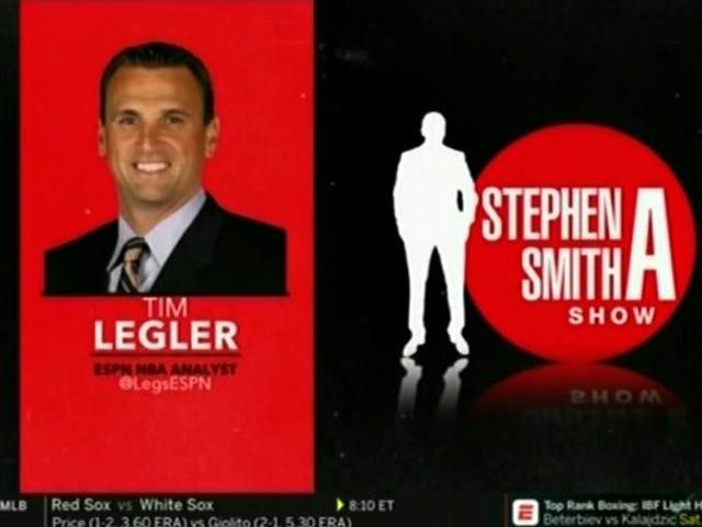 Tim Legler ESPN Kehilangan Ini Selepas Telefonnya Terganggu Bekerja Semasa Pameran Stephen A. Smith