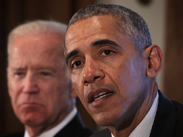 Ο Ομπάμα και ο θείος Τζο είναι κατάλληλα αηδιασμένοι από το ατού και τα αξιοζήλευτα σχόλια του