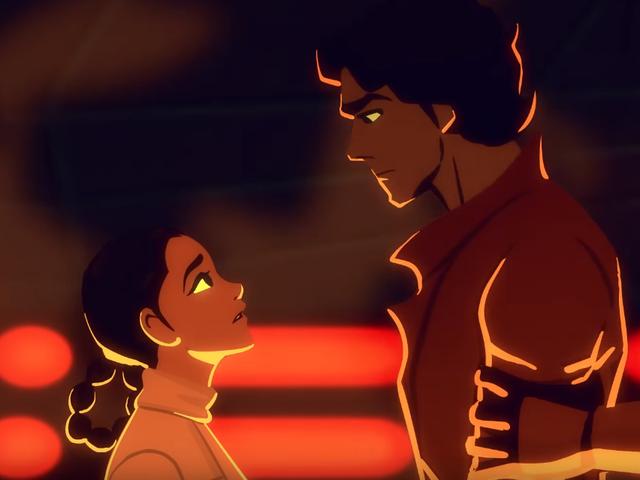 Leia's Rescue of Han Sama Romantis dalam Animasi