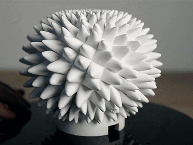 Animations d'esprit-fonte faites à partir des sculptures de Fibonacci imprimées par 3D
