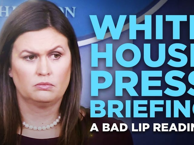 """""""WHITE HOUSE PRESS BRIEFING"""" — A Bad Lip Reading"""