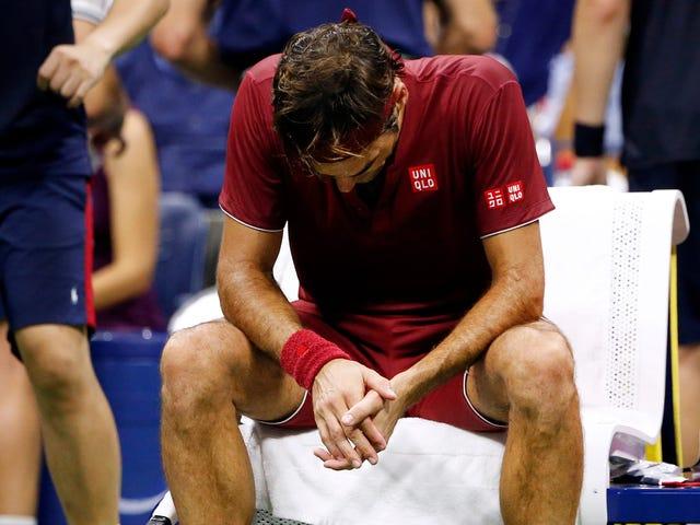 Roger Federer sırılsıklam oldu