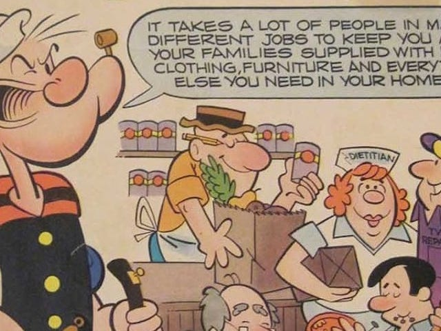 1970s-Era Popeye the Sailor Is Here to Give You Career Advice
