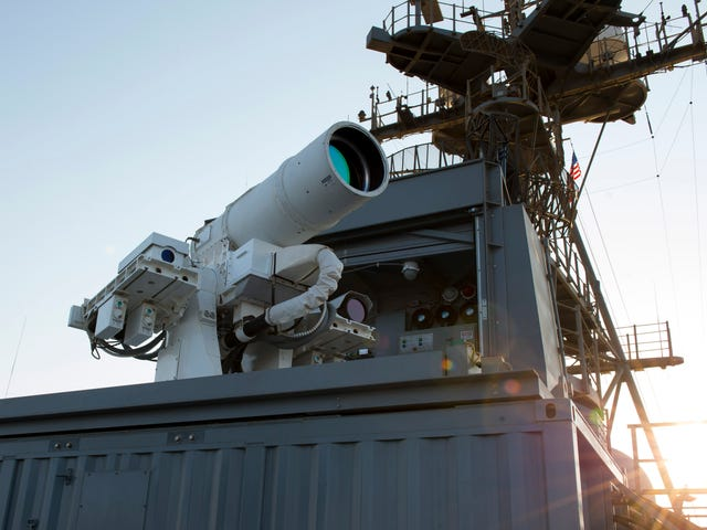 The Laser Weapon Is Really, Really Finally Here