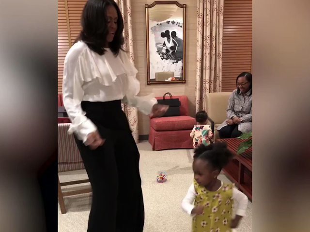 Michelle Obama Meets Little Girl Who Thought She Was a Queen and They Have a Dance Party, Naturally
