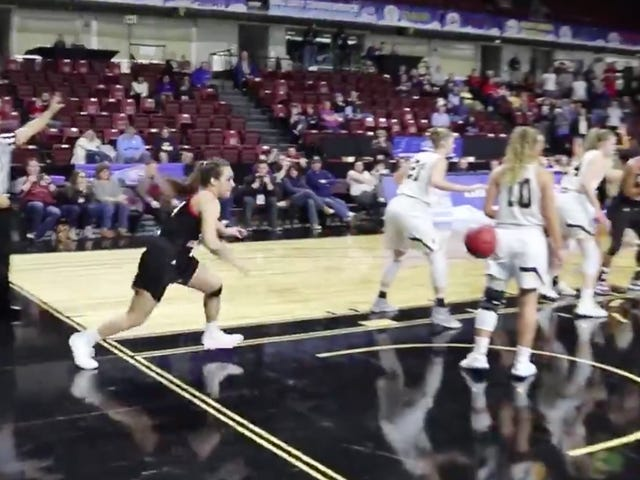 College Basketball Player Sets Up Game-Winner With The Classic Off-The-Butt Play