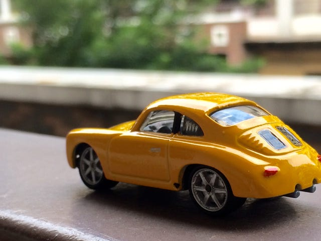 A clean yellow custom Porsche Outlaw...