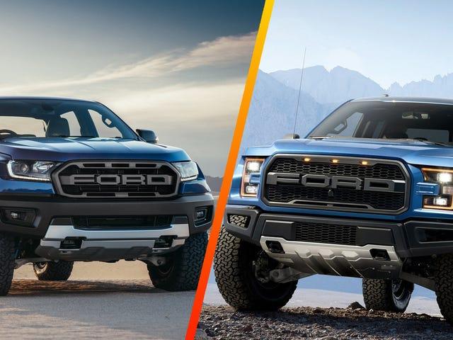 Cómo el Ford Ranger Raptor mide hasta el verdadero Raptor (Actualizado)